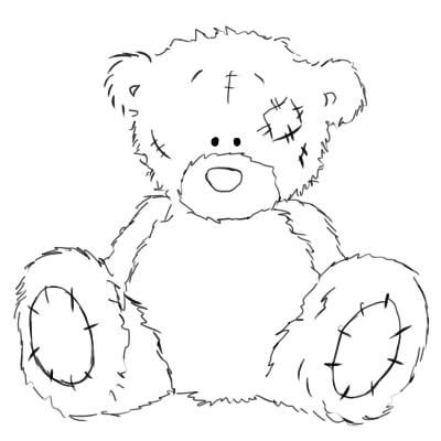 как нарисовать поэтапно мишку тедди шаг 6