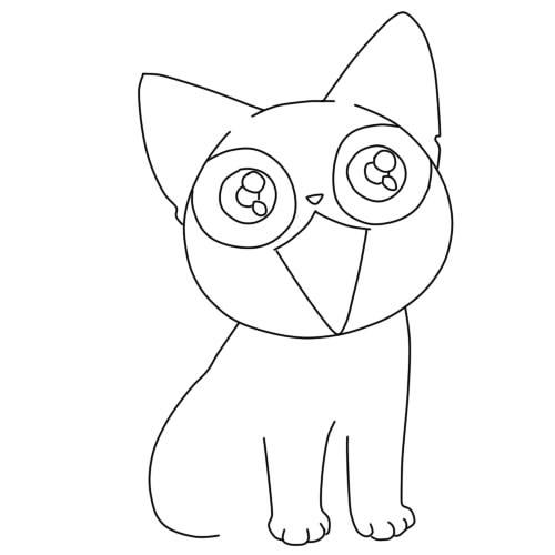 как нарисовать аниме кошку шаг 6