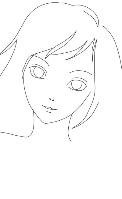 как нарисовать аниме девушку карандашом шаг 6