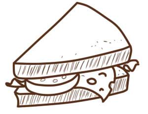 как нарисовать бутерброд шаг 6