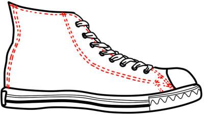 как нарисовать кеды шаг 6
