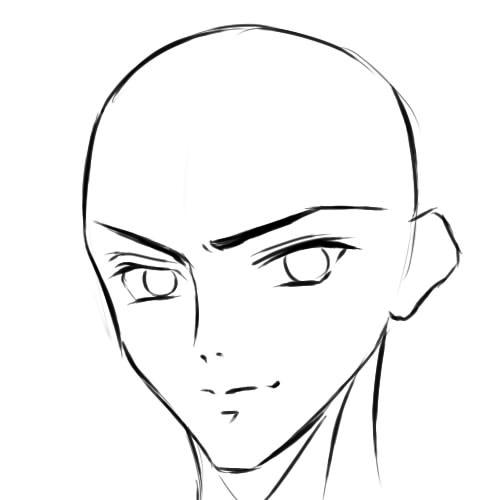 как нарисовать аниме парня шаг 6