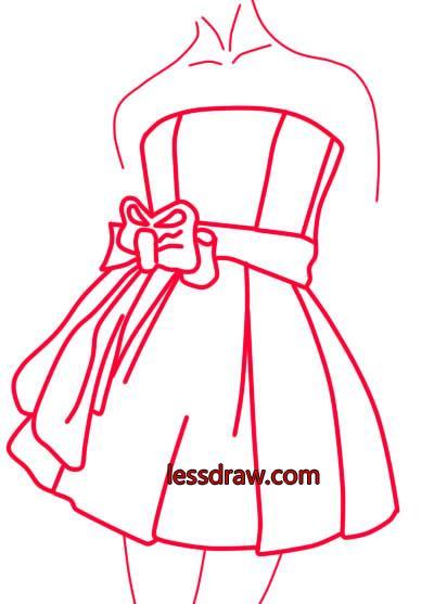 Картинки для срисовки карандашом платья
