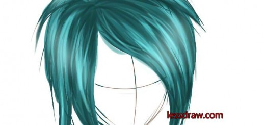 как рисовать в саи волосы шаг 7