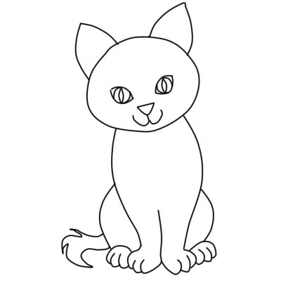 как нарисовать кошку поэтапно ребенку7