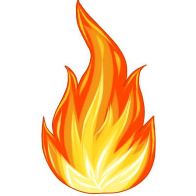 как нарисовать огонь поэтапно шаг 7