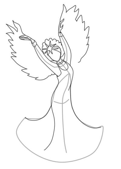 как нарисовать царевну лебедь шаг 7