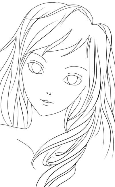 Фотки девушек рисовать