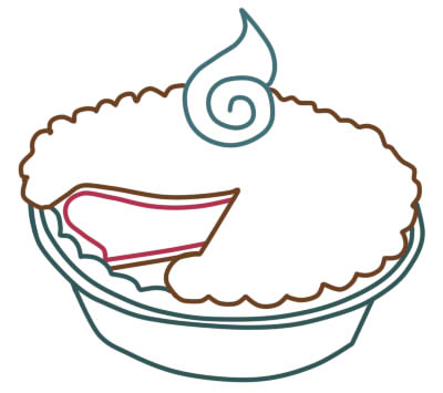 Как нарисовать пирог поэтапному