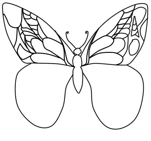 как нарисовать бабочку поэтапно карандашом шаг 7