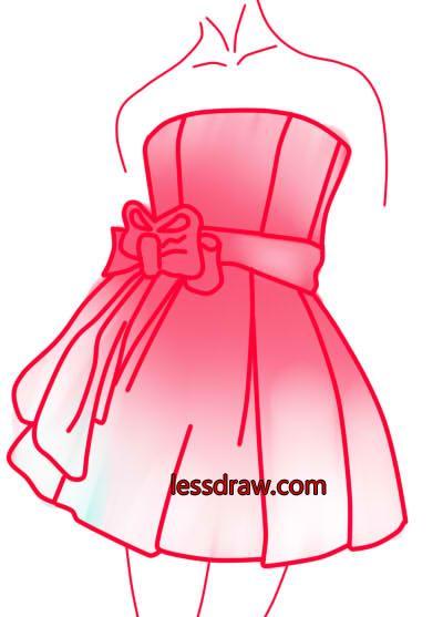 Платье нарисовать на ногтях