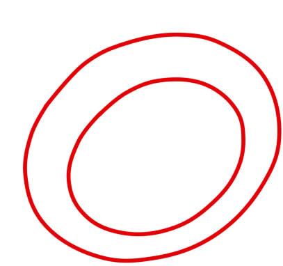 как нарисовать кольцо 2