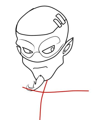как нарисовать ремингтона из вакфу шаг 7