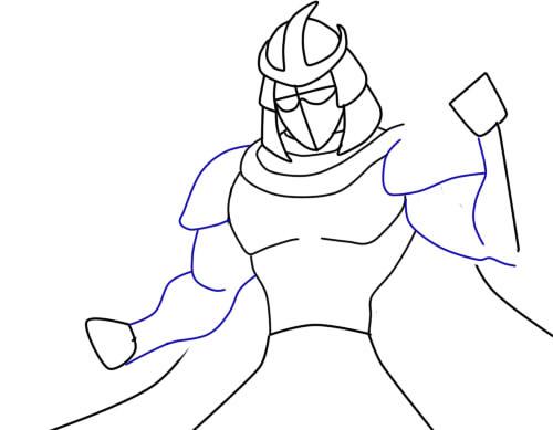 как нарисовать шредера шаг 7