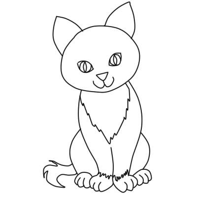 как нарисовать кошку поэтапно ребенку8