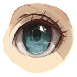 как рисовать аниме глаза шаг 8