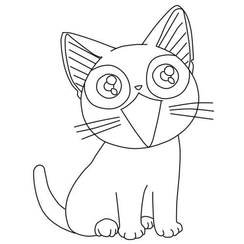 как нарисовать аниме кошку шаг 8