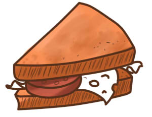 как нарисовать бутерброд шаг 8