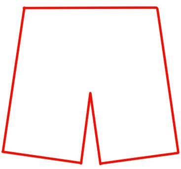 как нарисовать шорты шаг 8