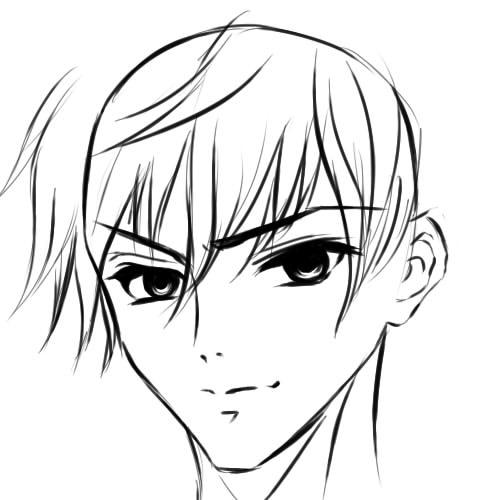 как нарисовать аниме парня шаг 8