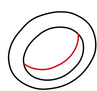 как нарисовать кольцо 8