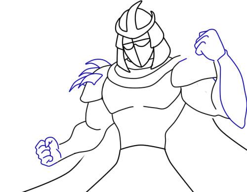 как нарисовать шредера шаг 8