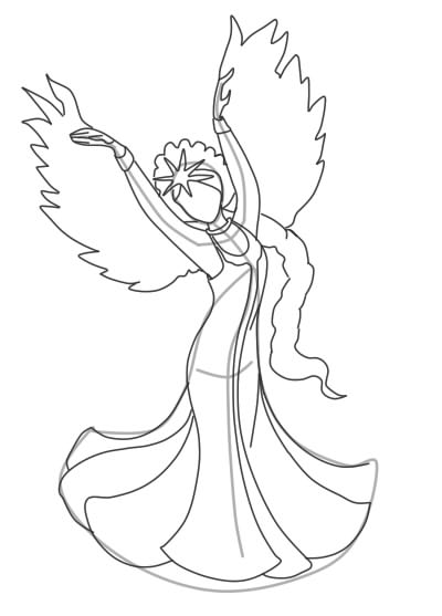 как нарисовать царевну лебедь шаг 9
