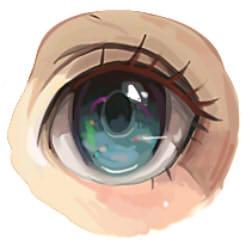 как рисовать аниме глаза шаг 9