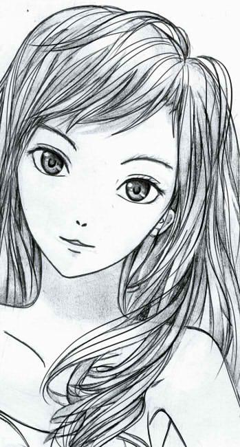 как нарисовать аниме девушку карандашом шаг 9