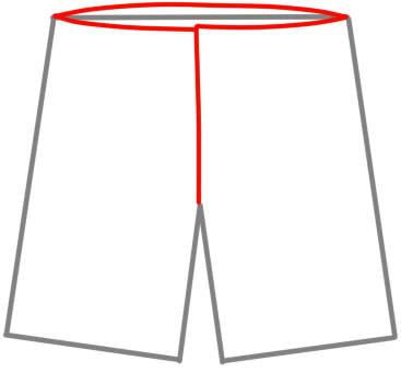 как нарисовать шорты шаг 9