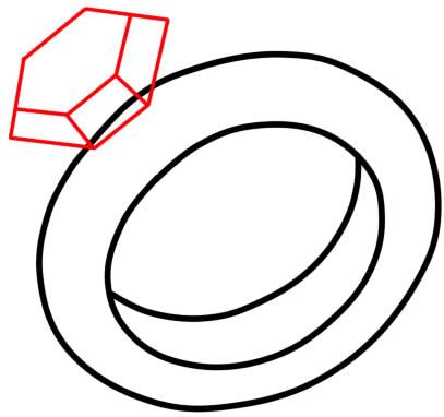 как нарисовать кольцо 9