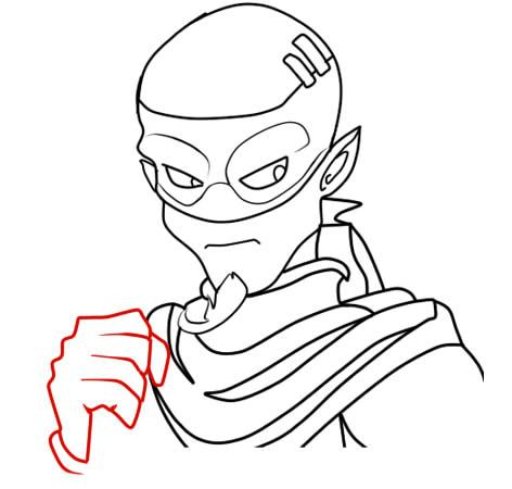 как нарисовать ремингтона из вакфу шаг 9