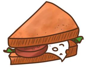 как нарисовать бутерброд шаг 9