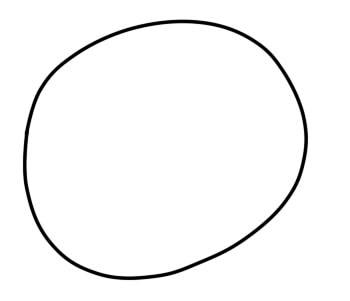как нарисовать гамбола шаг 1