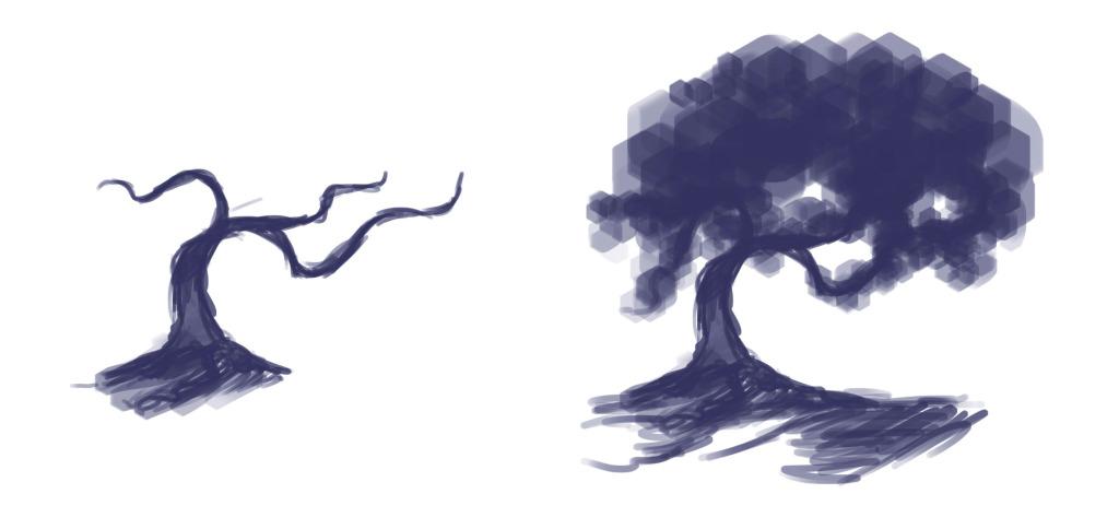 как нарисовать дерево в фотошопе шаг 1
