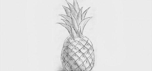 как нарисовать ананас карандашом поэтапно