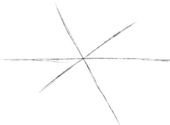 как нарисовать паутину шаг 1