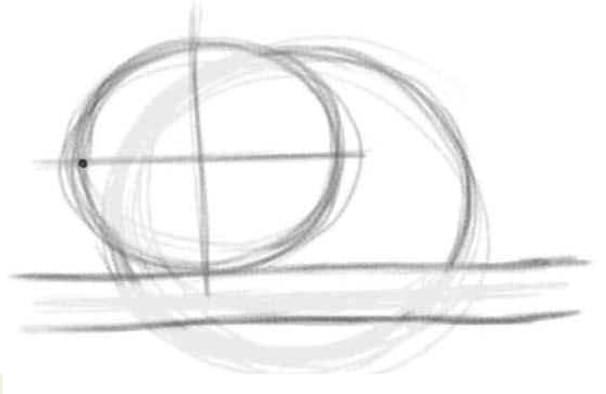 как нарисовать чеширского кота шаг 1