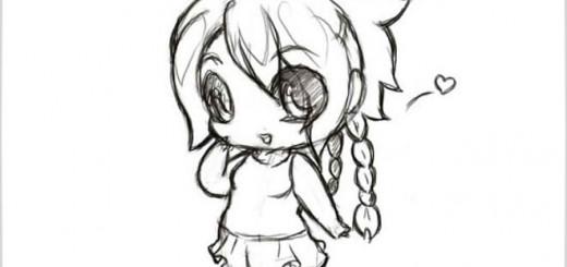 как нарисовать чиби аниме