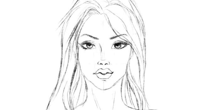 Портрет простым карандашом для начинающих поэтапно