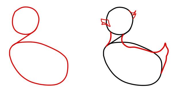 как нарисовать серую шейку шаг 1