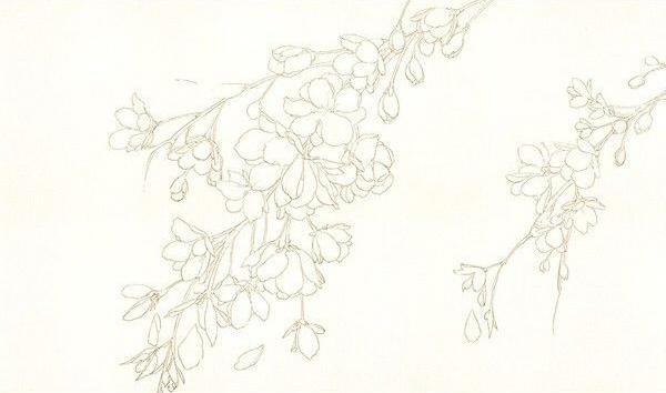 как нарисовать цветы акварелью шаг 1