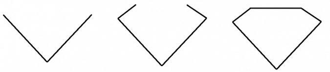как нарисовать алмаз шаг 1