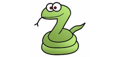 нарисовать змейку с ребенком