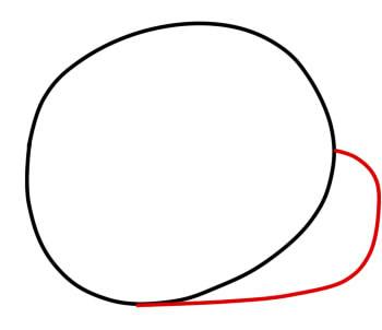 как нарисовать гамбола шаг 2