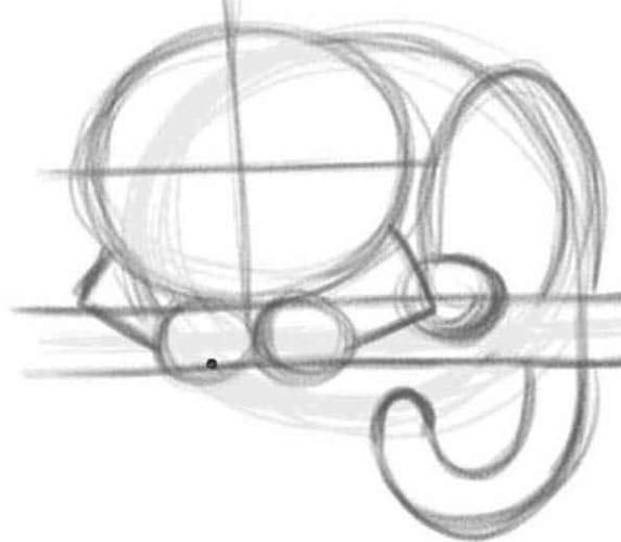 Как нарисовать чеширского кота шаг 2