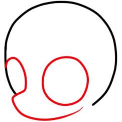 как нарисовать пони крошку бель шаг 2