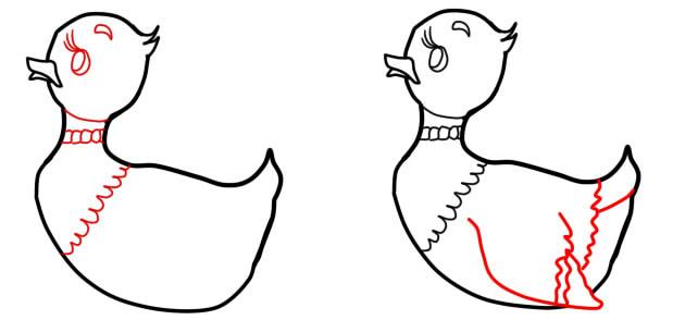 как нарисовать серую шейку шаг 2