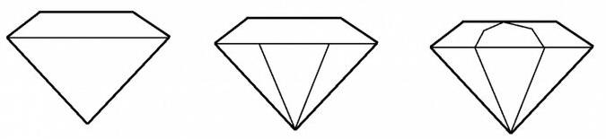 как нарисовать алмаз шаг 2