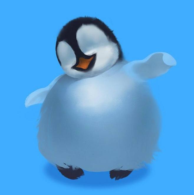 как нарисовать пингвина шаг 2